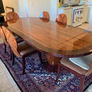 Lot # 16 Midcentury modern Stunning Dining Table W/ 6 Chairs