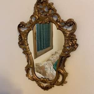 Lot # 17 Wood Framed Hanging Mirror