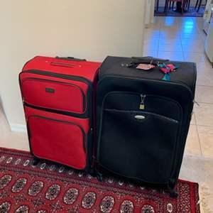Lot # 28 Lot of 2 Large Luggage