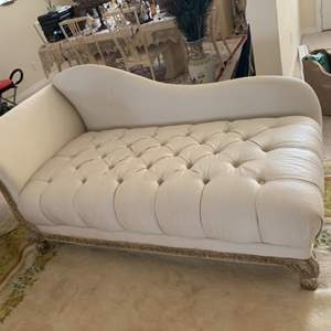 Lot # 31  Clean White Tone Chase Lounger