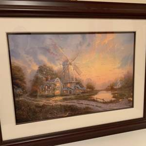 Lot # 33 Windmill Signed & Numbered Lithograph