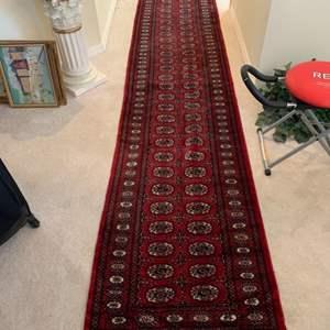 Lot # 35 Pakistani 100% Wool Hallway Runner Area Rug