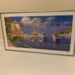 Lot # 37 Boat Themed Signed Lithograph