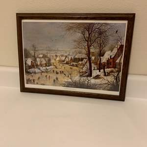 Lot # 41 Framed Winter Picture