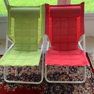 Lot # 50 Lot of 2 Folding Chairs