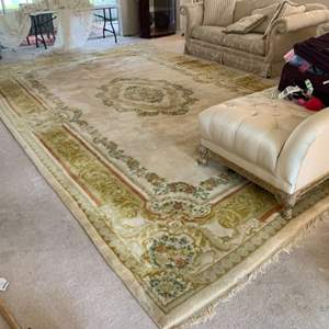Lot # 64 Chindia Area Rug Has some spots/ needs good cleaning.