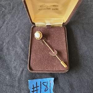 Lot # 65 Genuine Opal Tie Pin
