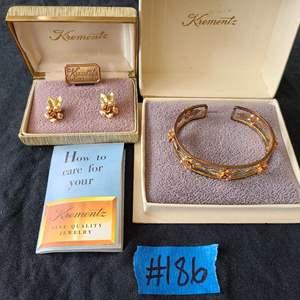 Lot # 70 Gold Tone Fashion Jewelry Set