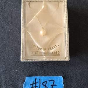 Lot # 71 14k Gold Chain W/ Cultured Pearl
