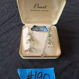 Lot # 74 Sterling Silver Chain W/ Imported Crystals