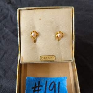 Lot # 75 10k Gold Earrings