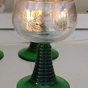 Lot # 86 Small Lot of Glass & Crystal Cups