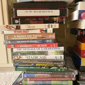 Lot # 88 Lot of Various VHS Tapes