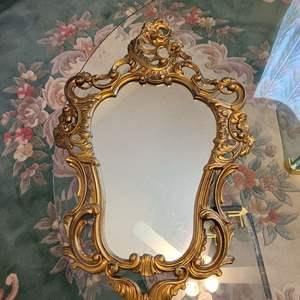 Lot # 124 Wood Framed Hanging Mirror
