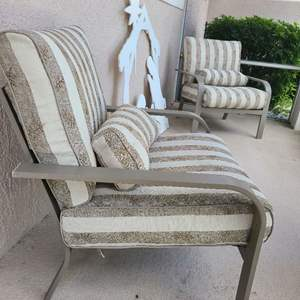 Lot # 126 Set of 2 Matching Outdoor Chairs W/ Cushions