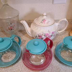 Lot # 137 Lot of Small TeaPots & More