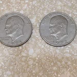 Lot # 139 1971 & 1972 Dollar Pieces