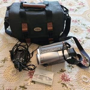 Lot # 160 Canon Handheld Video Camera W/ Case