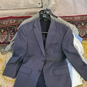 Lot # 174  Lot of Various Mens Dress Shirts & Jackets - Sizes in Pictures