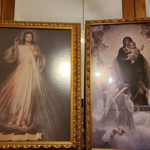 Lot # 208 Set of 2 Religious Pictures