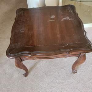 Lot # 214 Vintage Small Wood Side Table