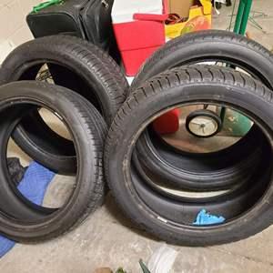Lot # 217 Pirelli Scorpian & Firestone Firehawk GT 245/45/20 Tires (8/32nd of Tread Left)