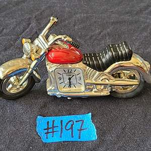 Lot # 231 Timex Miniature Motorcycle Clock