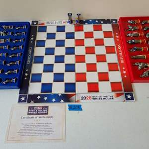 """Lot # 243 """"2020 Battle for The White House"""" Chess Game"""