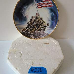 Lot # 261 Raising of the Flag on Iwo Jima by Feliz de Weleton limited edition collector's plate - 1992