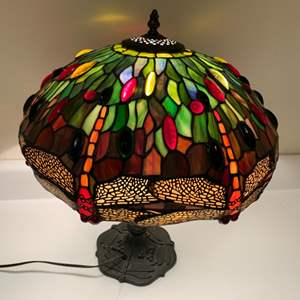 Lot # 268 Tiffany style Stained glass lamp