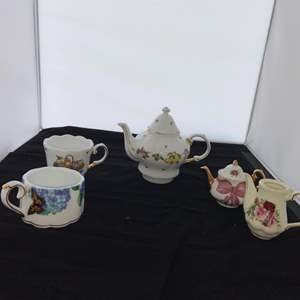 Lot # 2 Pretty Teapots and Cups