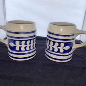 Lot # 7 Nice Pair of Williamsburg Pottery Mugs