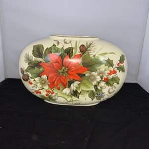Lot # 16 Beautiful Poinsettia Vase