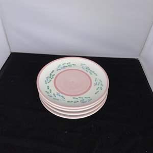 "Lot # 27 Set of 4 Caleca FLAVIA Salad Plates 8"""