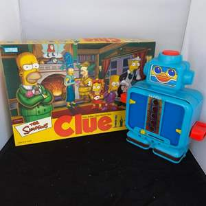 Lot # 37 Vintage Alphie Toy & The Simpsons Clue Board Game