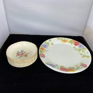 Lot # 45 Floral Dishes