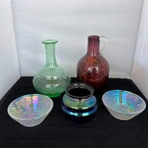 Lot # 47 Pretty Glassware Assortment