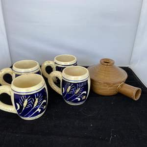Lot # 74 Pottery Mugs (made in Japan) and More