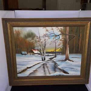 Lot # 94 Signed and Framed Artwork - Lisette Hamel 1983
