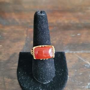Lot # 118 10k Gold Ring-TW-5.90g