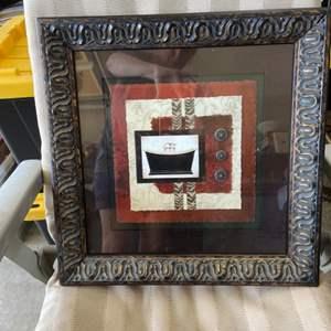 Lot # 121 Pretty Framed Artwork