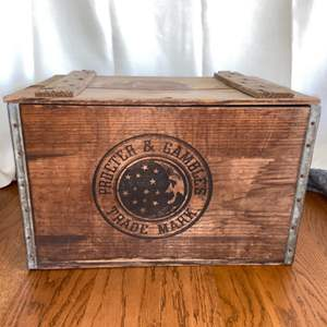 Lot # 143 Vintage Wood Proctor & Gamble Crate in Great Condition