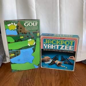 Lot # 153 Vintage Jackpot Yahtzee & Thinking Mans Golf