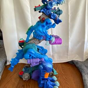 Lot # 156 Fisher-Price Imaginext Ultra T-Rex - Ice 2 1/2 Ft Tall Dinosaur