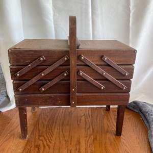 Lot # 162 Beautiful Sewing Box