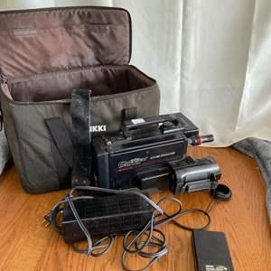 Lot # 164 Vintage Quasar Video Camera w/ Camera Bag