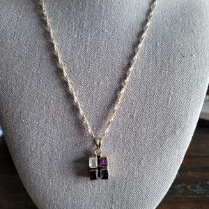 Lot # 181 Sterling Silver Multi Stone Necklace