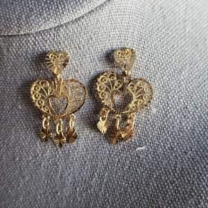 Lot # 189 Gorgeous 14k Gold Dangle Earrings - TW 2.80g