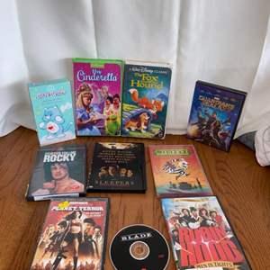 Lot # 201 DVDs & VHS Tapes