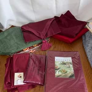 Lot # 227 Table Cloths, Place Mats & More